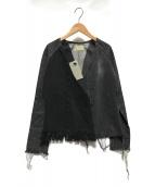 ()の古着「circa make denim fringe jacket」 グレー