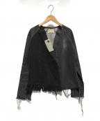 77circa(ナナナナサーカ)の古着「circa make denim fringe jacket」 グレー