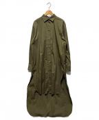 VERMEIL par iena()の古着「バックテールシャツ」|カーキ