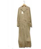 ()の古着「リネンジャンプスーツ」|ベージュ