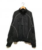 LIAM HODGES(リアムホッジス)の古着「ハーフジップトラックジャケット」|ブラック