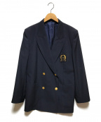 Christian Dior Sports(クリスチャンディオールスポーツ)の古着「エンブレム付金釦ブレザー」|ブラック