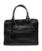 SAZABY(サザビー)の古着「型押しハンドバッグ」|ブラック