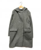 ROPE(ロペ)の古着「2WAYダブルビーバーフーデッドコート」|グレー