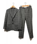 ()の古着「フレンチウールヅレンプレイド3Bセットアップ」 グレー