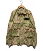 US NAVY(ユーエスネイビー)の古着「3C デザートカモBDUジャケット」 ベージュ×カーキ