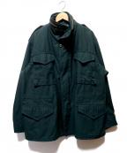 ALPHA()の古着「後染めM65ジャケット」 ダークグリーン