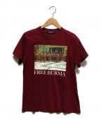 UNDERCOVER(アンダーカバー)の古着「FREE BURMA TEE」|ボルドー