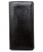 LOUIS VUITTON(ルイ ヴィトン)の古着「エピ/ポルトフォイユ・ブラザ」|ブラック
