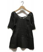 ()の古着「ラミーパフブラウス」|ブラック