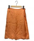 MARTIN MARGIELA(マルタン・マルジェラ)の古着「サイドジップスカート」|オレンジ