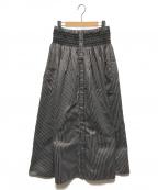 COEL(コエル)の古着「ウエスト刺繍スカート」 ブラウン×ホワイト