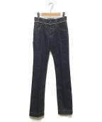 DOUBLE STANDARD CLOTHING(ダブルスタンダードクロージング)の古着「デンタープレスデニムパンツ」 インディゴ