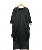 VERMEIL par iena(ヴェルメイユパーイエナ)の古着「バックラッフルサックワンピース」 ブラック