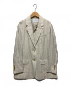 FRAMeWORK(フレームワーク)の古着「綿麻ドビージャケット」 ベージュ