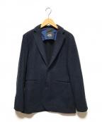 Denham(デンハム)の古着「ウールテーラードジャケット」 ネイビー