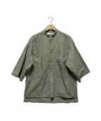 bractment(ブラクトメント)の古着「ワッシャーホスピタルシャツ」|グリーン