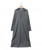 GALERIE VIE(ギャルリーヴィー)の古着「スキッパーワンピース」|グレー