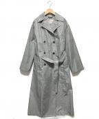 Traditional Weatherwear(トラディショナルウェザーウェア)の古着「チェックトレンチコート」|グレー