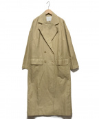 LAGUNA MOON(ラグナムーン)の古着「ダブルフェイスフォルムコート」|ベージュ