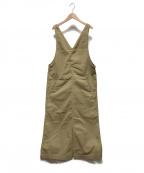 UNIVERSAL OVERALL(ユニバーサルオーバーオール)の古着「ジャンパースカート」 ベージュ