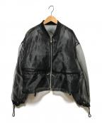 UN3D.(アンスリード)の古着「ギャザーオーガンジーブルゾン」 ブラック