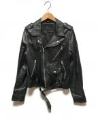 Rawtus(ロゥタス)の古着「ダブルレザージャケット」 ブラック