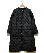 Traditional Weatherwear(トラディショナルウェザーウェア)の古着「ノーカラーキルティングコート」|ブラック