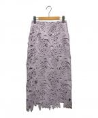 CELFORD(セルフォード)の古着「スズランレーススカート」|パープル