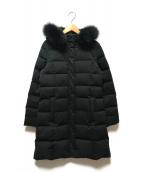 ()の古着「FOXファーダウンコート」 ブラック