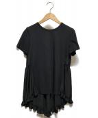 ()の古着「バックギャザーTシャツ」 ブラック