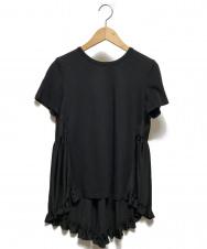 YOKO CHAN (ヨーコチャン) バックギャザーTシャツ ブラック サイズ:36(下記参照) 20SS