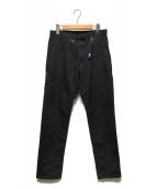 ()の古着「ストレッチツイルテーパードパンツ」|ブラック