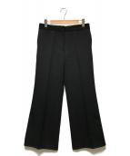 ()の古着「ハードギャバリーワイドパンツ」|ブラック