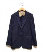 Paul Smith London(ポールスロンドン)の古着「ウールシルクテーラードジャケット」 ネイビー