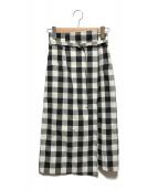 ()の古着「ラップ風タイトスカート」|ホワイト×ブラック