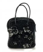 ANTEPRIMA(アンテプリマ)の古着「フラワーモチーフワイヤーハンドバッグ」|ブラック