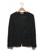 ()の古着「ノーカラージャケット」 ブラック