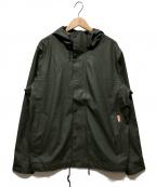 HUNTER(ハンター)の古着「ライトウェイトウォータープルーフボンバージャケット」|オリーブ