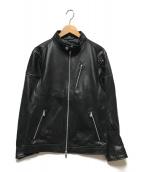 ()の古着「シングルライダースジャケット」 ブラック