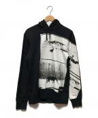Calvin Klein Jeans × Andy Warhol(カルバンクライン × アンディウォーホル)の古着「フォトアートフーディ」 ブラック