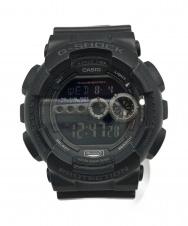 CASIO (カシオ) クオーツ腕時計 ブラック G-SHOCK GD-100 クォーツ 動作確認済み ラバー