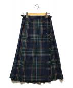 ()の古着「巻きスカート」|ネイビー