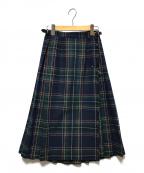 O'NEIL OF DUBLIN(オニールオブダブリン)の古着「巻きスカート」 ネイビー