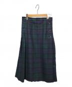 O'NEIL OF DUBLIN(オニールオブダブリン)の古着「チェックプリーツスカート」 グリーン×ネイビー