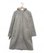 KUMIKYOKU(クミキョク)の古着「ウールアンゴラビーバーロングコート」|グレー