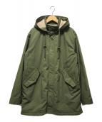 ()の古着「フーデッドコート」 オリーブ
