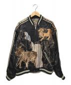 ()の古着「スカジャン」|ブラック