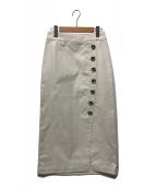 ()の古着「サイドボタンラップスカート」|ベージュ