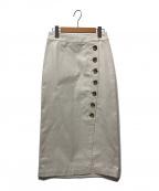 Spick and Span(スピックアンドスパン)の古着「サイドボタンラップスカート」|ベージュ